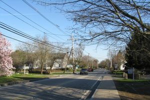 Street in Hopkinton MA